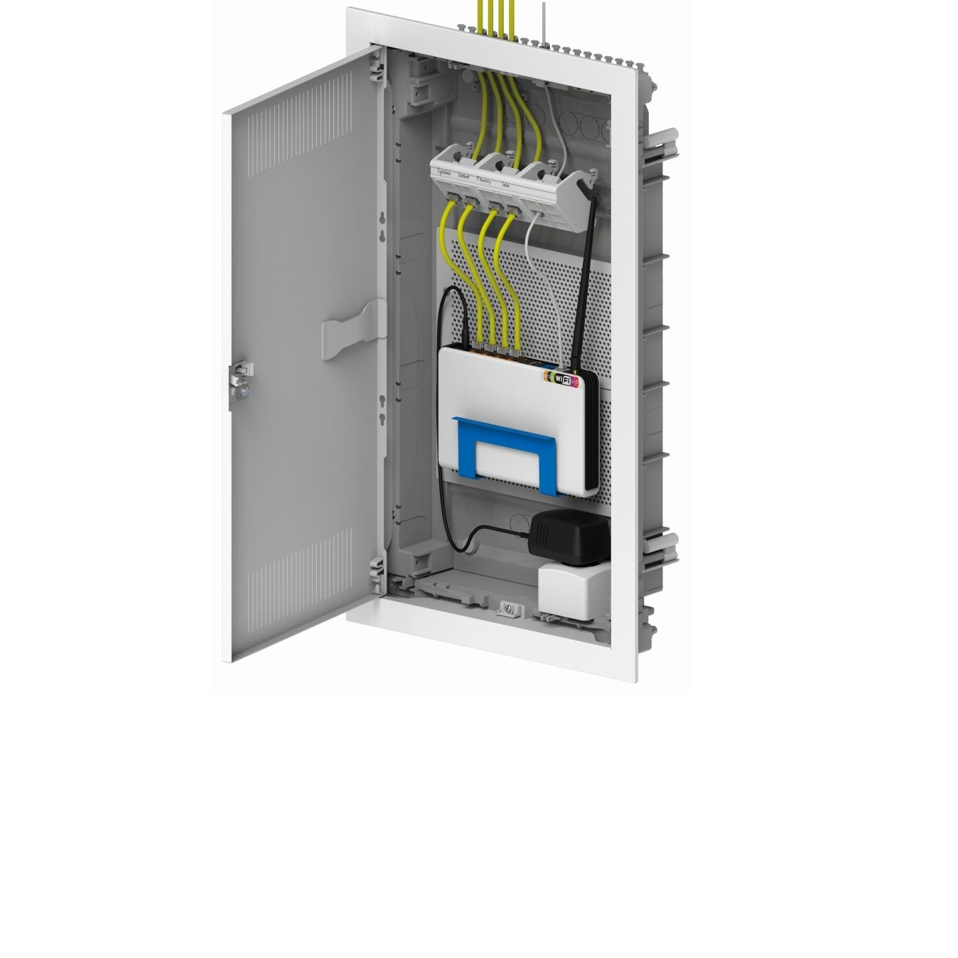 Telecommunications Cabinets Shop Bpg Duplex Panel This Controller Includes Circuit Breakers And Cat7 Multimedia Wall